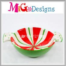 Cuenco de cerámica colorido del diseño de la Navidad del precio barato