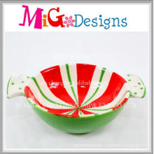 Colorful Cheap Price Christmas Design Ceramic Bowl