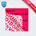 High quality open void customized torn invalid security printing sticker