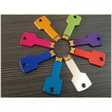 Metal Business Colorful Key Shape USB Pendrive (EM028)