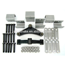 hanger kit for tandem axle trailer spring suspension