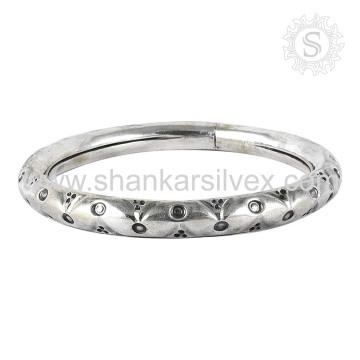 Beautiful Engrave Bangle Design 925 Jóias De Prata Atacado Indian Silver Jewelry