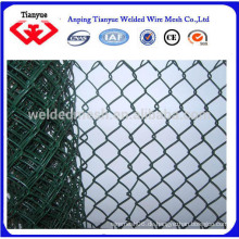 Grüne Farbe pvc beschichtet Kette Link Zaun