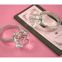 Anillo de servilleta de cristal (Arte de decoración de cristal) (JD-CJH-002)