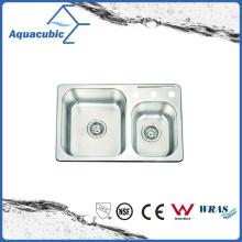 Economic Double-Bowl Moduled Sink (ACS7046M)