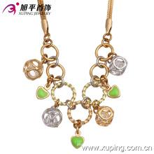 Moda elegante banhado a ouro colar de jóias cz 42481