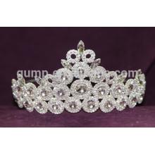 Kristallauflage voll runde tiara