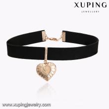 43609 Xuping 18k banhado a ouro colar de pingente em forma de coração
