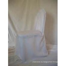 venta por mayor baratos 100% poliester banquete cubierta de la silla para hotel de banquete de boda