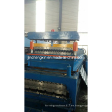 Rollo de teja esmaltada de acero que forma la máquina que hace la hoja de metal de la máquina