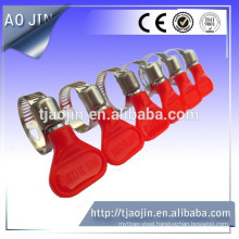 1/2 ich band quick release america type hose clamps with plastic handle/btutterfly handle hose clamp