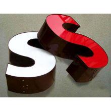 Letra de impermeable modificado para requisitos particulares, publicidad aluminio LED señal canal