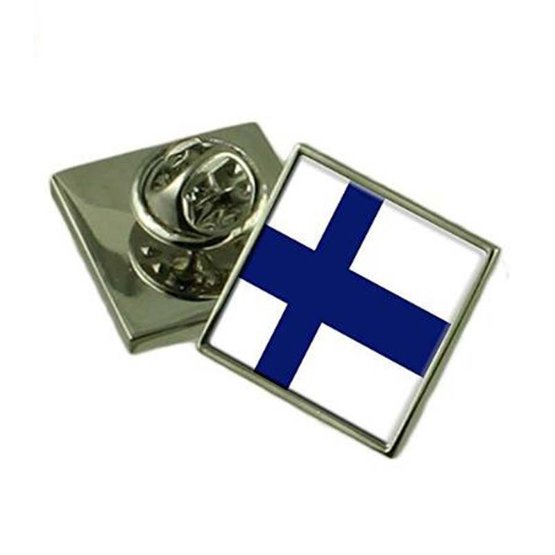 Die Struck Engraved Finland Lapel Pin Badge