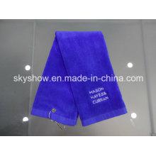 Полотенце для гольфа вышитые хлопка (SST0337)