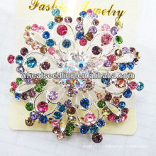 2014 Fashion Costume Big Circle Rhinestone Brooch BR07