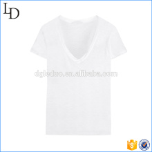 Wholesale cheap price of cotton t shirt comfortable v neck t shirt