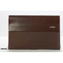 Brown Leather Nylon Document Bag for Men (213-24501)