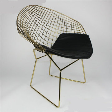 Réplique Harry Bertoia Diamond treillis métallique à manger chaise