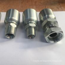 BSP-Reihe Standard-galvanisierter Kohlenstoffstahl-einteilige hydraulische Schlaucharmaturen u