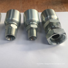 BSP Series Standard Galvanized Carbon Steel One Piece Hydraulic Hose Fittings & Hose