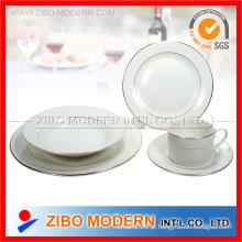 20PCS porcelana / cerâmica Dinnerware com linhas de ouro