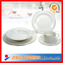 20PCS фарфор / керамика посуда с золотыми линиями