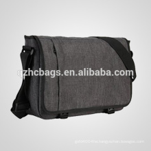 Durable Grey Laptop Messenger Bag for teens 15-inch