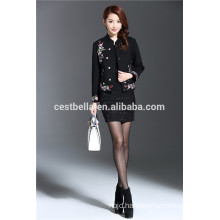 custom made autumn short Printed floral Coat dresses for elegant married women