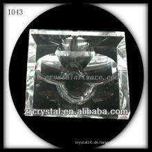 K9 Kristall Aschenbecher mit Blütenform