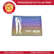 Leather label reflective garment labels