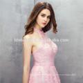 Милый мини-дизайн розовый цвет кружевной холтер свадебные платья невесты платья