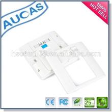 Cat5e RJ45 UTP Keystone Jack Faceplate / placa de rede Ethernet / placa frontal uk / 1 tomada de parede porta rj45 FacePlate /