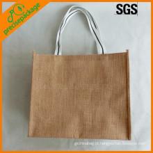 Saco de compras de embalagem de juta reutilizável ecológico