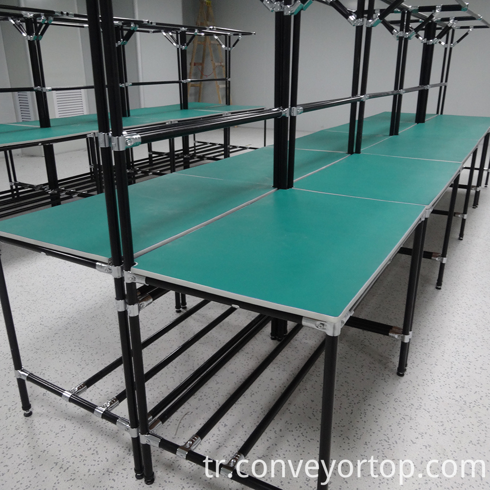 Lean Pipe Conveyor Table