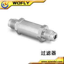 high pressure male connector nitrogen gas tube filter