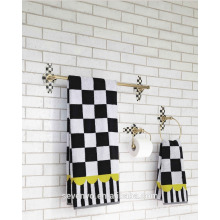 Pastoral style Black and white grid Bath Towel,Towel set BT-078
