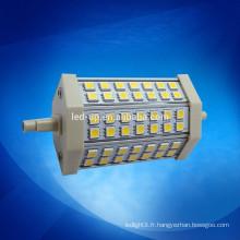 360 degrés 118MM 10W LED R7S remplacent l'ampoule halogène à double extrémité