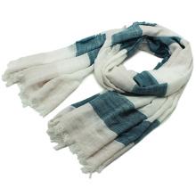 Senhora Moda Stripe Impresso Cotton Viscose Spring Scarf (YKY1158)