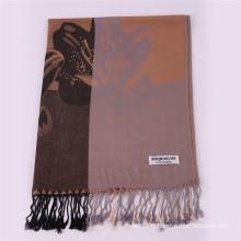 Nouveau style léger couleur kaki Echarpe d'hiver Mode Jacquard Pashmina