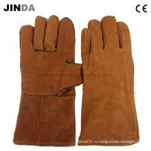 Защитные сварные кожаные рабочие перчатки (L008)