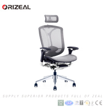 Orizeal New Design solid aluminium base aluminium office chair with armrest(OZ-OCM036A)