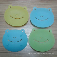 Lovely Cartoon Frog Shape Silicone Soap Dish Soap Mat