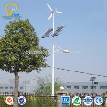 Luz de calle híbrida solar llevada vertical del viento