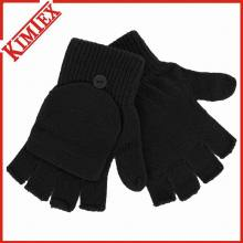 Custom Acrylic Knitted Winter Glove/Warm Glove with Flap