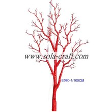 Fast delivery for for Artificial Dry Tree Branch Wholesale Fashion Beaded Garland Tree with 100CM for Wedding Decoration Bright Red Color export to Macedonia Importers