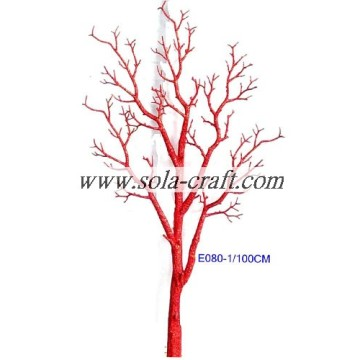 Wholesale Fashion Beaded Garland Tree with 100CM for Wedding Decoration Bright Red Color