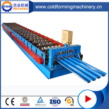 Automatik GI Trapezoid Roof Tile Cold Roll Forming Machine