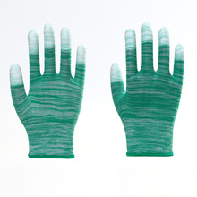 Stripe Non-slip Firm PU Labor Protective Gloves