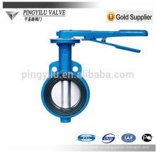 Стандартный Pn10 мягкий уплотняющий центроплан чугунная пластина ptfe дроссельный клапан