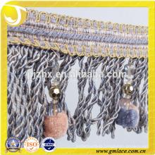 Franja ancha del pompom de la franja ancha del cordón exquisito